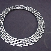 SALE Givenchy Vintage Silverplated Runway Collar  Necklace,