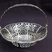 WMF Silverplated, Reticulated Basket w Movable Handle