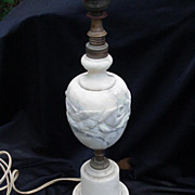 Vintage Marble Table Lamp, Classic Design