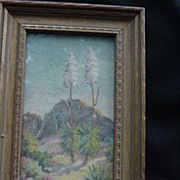 SALE 1930 Original Art by T. Mae de Ville, Flowering Yucca