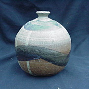 Art Pottery Vase, Artist Signed, 1967