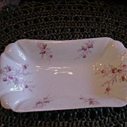 Austrian Porcelain Dish with Rose Sprays