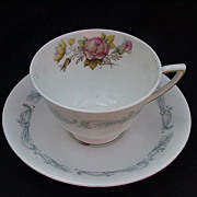 Royal Doulton Chantilly Rose English Bone China Cup & Saucer