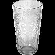 SOLD Vintage Heisey Orchid Pattern Large Vase