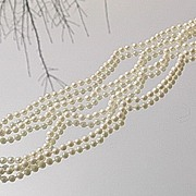 Vintage Two Strand Freshwater Pearl Necklace with Culture Pearl/Multi Diamond Gold Clasp