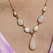 SOLD 14kt Multi Opal Artisan Necklace