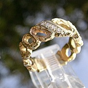 14kt Vintage Diamond Band/Ring