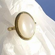 9kt Vintage Grey  Moonstone Ladies Ring