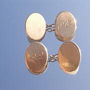 """10kt Antique """"1912"""" Oval Cufflinks"""