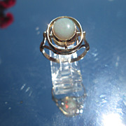 9kt Yellow Gold Double Oval Opal Ladies Ring