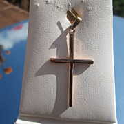 10kt Yellow Gold High Polish Vintage Cross