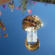 18kt Multi Sapphire/Diamond Wave Ring