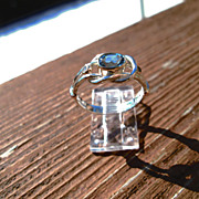 Sterling Silver/9kt Sky Blue Topaz Ladies Ring
