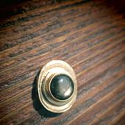 14kt Black Star Sapphire Vintage Oval Slide