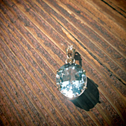 9kt Yellow/Pink  Gold Oval Blue Topaz Pendant with Diamond Bale