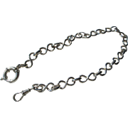 "Artisan Silver Twisted ""Eight"" Multi Link Watch Chain"