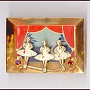 SALE 3 Dimensional Scene, Window Box, Shadow Box, Diorama style Ballerina Pin Swan Lake