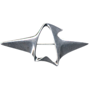 SALE Georg Jensen Modernist Sterling Silver Pin Brooch by Henning Koppel