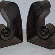 Antique Hand Made Scrolled Metal Art Work Bookends
