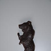 SOLD Nice Black Forest Carved in Wood Bear Letter Opener , Paper Knife , Desk