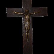 Art Nouveau Finest Quality Wooden Bronze Wall Crucifix