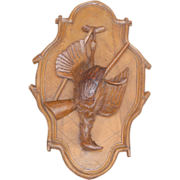 Black Forest Hunting Plaque Hunt Game Bird