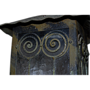 Art Deco Wrought Iron Lantern