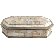 A Mother of Pearl Antique Jewellery or Trinket Box