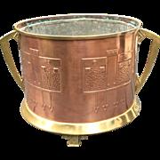 Arts & Crafts - Jugendstil - Art Nouveau Brass - Copper Jardiniere - Plant Box
