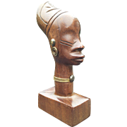 Sculpture of a Head of an African Women by Hagenauer