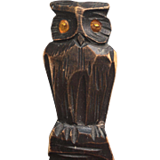 Black Forest Carved in Wood Owl Letter Opener , Paper Knife , Desk