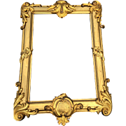 Large Gilded Bronze - Brass Gothic Art Picture - Mirror Frame