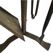 Vintage Set Iron Fire Place Tools