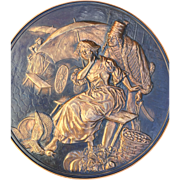 The Seducer, Vintage Copper Decorative Wall Plaque
