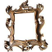 19th Century Baroque Wooden Picture Frame w. Flowers