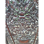 English Carving Wall Panel Sea of Flowers Arts and Crafts