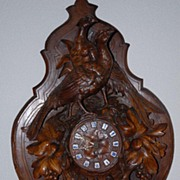 SALE A Large Rare Antique Finest Carved Wood(Walnut) Swiss Black Forest Hunting Clock