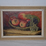SALE A Very Nice Oil Painting On Canvas, still life of fruit
