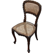 Wonderful Set of 6 Carved Wood Black Forest era Victorian Chairs