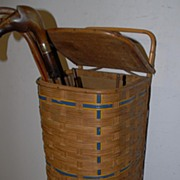 SALE An Original Wooden/Reed baguette basket