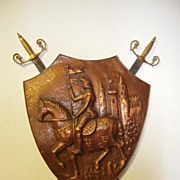 SALE A Beautiful Wall Display, Swords with Shield, Knight / Castle Decor