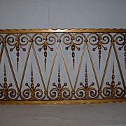 A Beautifull French Vintage Wrought Iron Wall Rack , Decoration