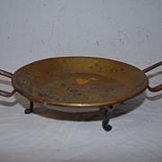 Antique 18thc Brass/Copper Bacon Pan Server.