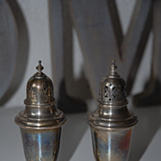 Vintage Gorham Sterling Silver Salt & Pepper Shakers