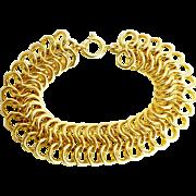 Vintage 1957 ~ 34 Grs. ~  Heavy 14K Yellow Gold Bracelet
