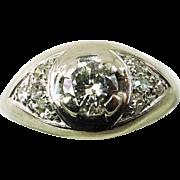 REDUCED Antique ~ 18K White Gold Edwardian Era .33ct Diamond Ring