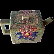 SALE Vintage Ceramic Teapot Floral Motif Marked Hand Painted JAPAN