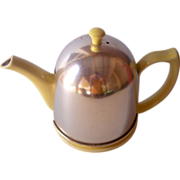 SOLD Vintage HALL Teapot with Metal Tea Cozy Canary Yellow!