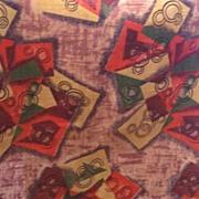 FABULOUS Atomic Print BARKCLOTH Textile 2 1/2 Yards Mint Condition!