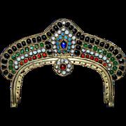 Antique Jeweled Purse Frame Handbag Ready